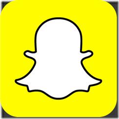 Das Snapchat-Logo (weißer Geist auf gelbem Hintergrund)